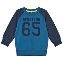 United Colors of Benetton Green/Grey Sweatshirt Green