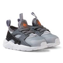 NIKE Grey Huarache Run Ultra Infants Trainers WOLF GREY/TART-COOL GREY-BLACK