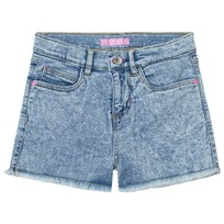 Guess Acid Wash Denim Shorts with Frayed Edge NYAW