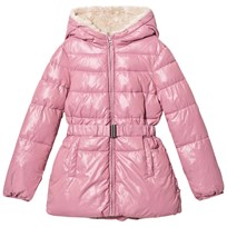 United Colors of Benetton Light Pink Puffer Jacket Pink