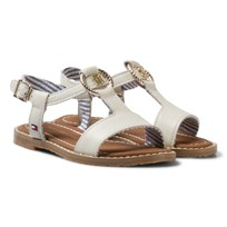 Tommy Hilfiger White Leather Sandals Whisper white