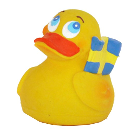 Lanco Swedish Duck Natural Rubber Toy