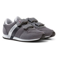 Tommy Hilfiger Material Mix Sneakers Stålgrå Steel Grey