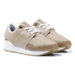 Tommy Hilfiger Material Mix Sneakers Guld