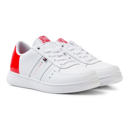 c34ef8a070ea3 Tommy Hilfiger - Leather Mix Sneakers White Tomato Red - Babyshop.com