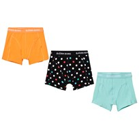 Bjorn Borg 3 Pack of Yellow, Blue and Spot Trunks 90011 BLACK
