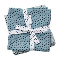 Done by Deer Swaddle 2-Pack Happy Dots Blue Blue