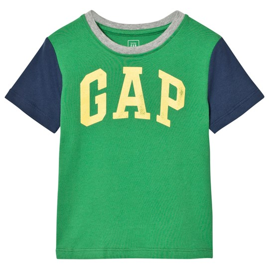 GAP Logo Colorblock Short Sleeve Tee Parrot Green PARROT GREEN 385
