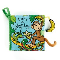 Jellycat I Am A Monkey Book Multi