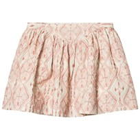 Noa Noa Miniature Skirt With Embroidered Pattern Chalk White