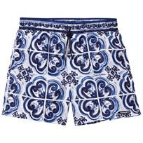 Dolce & Gabbana Printed Beach Shorts Blue HB062