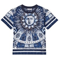 Dolce & Gabbana Printed Cotton Tee Blue HWA70
