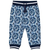 Dolce & Gabbana Sweatpants in Printed Cotton Blue HB062