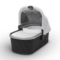 UPPAbaby VISTA/CRUZ Carrycot Loic (White) - Silver Frame Hopea