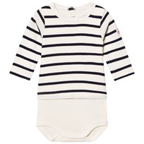 Petit Bateau Baby Body Coquille/Abysse coquille/abysse