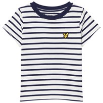 Lyle & Scott Deep Indigo and Cream Striped Tee Deep Indigo
