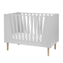 Done by Deer Baby Cot 70 x 140 cm Grey Musta