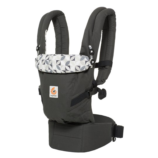 Ergobaby Adapt Baby Carrier Graphic Grey Black