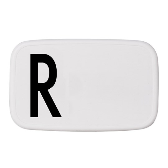 Design Letters Personal Lunch Box R White