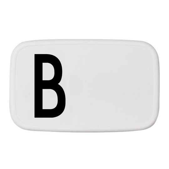 Design Letters Personal Lunch Box B White