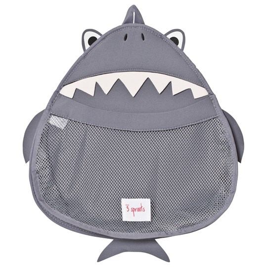 3 Sprouts Shark Bath Storage Grey Shark