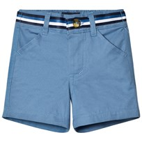 Andy & Evan Blue Twill Shorts Blue