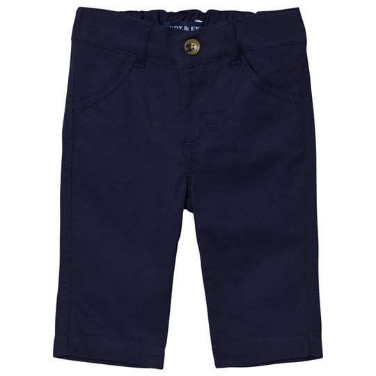 Andy & Evan Navy Twill Pants Marinblå