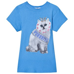 Image of Wildfox Blue Purrfect Cat Print Tee 4 years (2743784795)