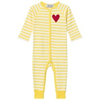 Anïve For The Minors Baby Jumpsuit Happy Yellow/White Stripes Gul