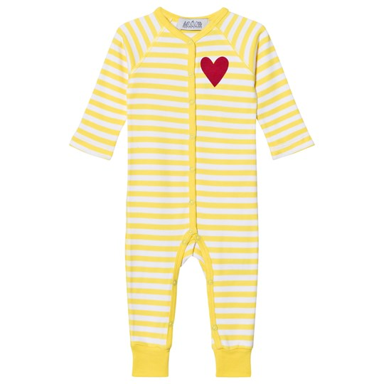 Anïve For The Minors Baby Jumpsuit Happy Yellow/White Stripes Yellow