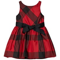 Ralph Lauren Plaid Fit-and-Flare Dress Red/Black XW1U5