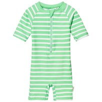eBBe Kids August Beachsuit Crisp Green Stripes Crisp green stripes