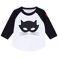 Scamp & Dude Super Charged Raglan – Cat Mask Black and White