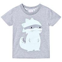 Scamp & Dude Super Marl T-Shirt – Super Dino Grey Marl