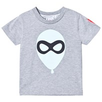 Scamp & Dude Super Marl T-Shirt – Balloon Man Grey Marl