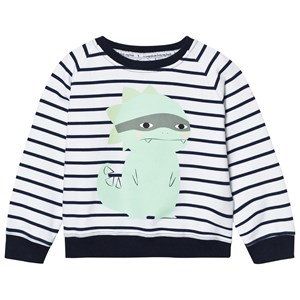 Image of Scamp & Dude Chilled Fit Sweatshirt – Navy/White Breton Dino 1-2 years (2743700219)