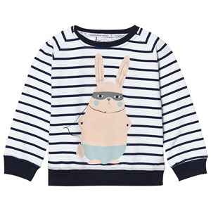 Image of Scamp & Dude Chilled Fit Sweatshirt – Navy/White Breton Bunny 1-2 years (2743700209)