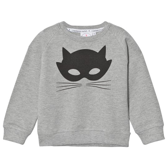 Scamp & Dude Chilled Fit Sweatshirt – Grey Marl Cat Mask Grey Marl