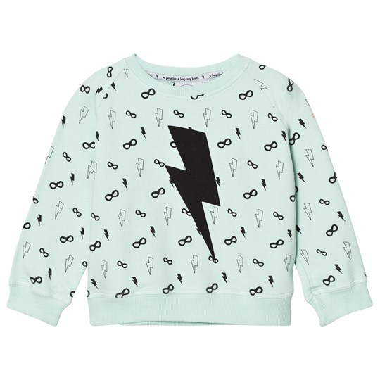 Scamp & Dude Cool Kid Sweatshirt – Lightning Bolt Pale Green Pale Green