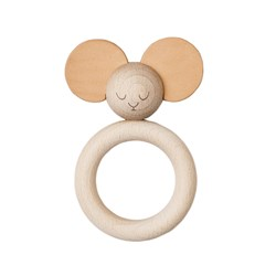 garbo&friends Mister Mouse Wood & Leather Teether