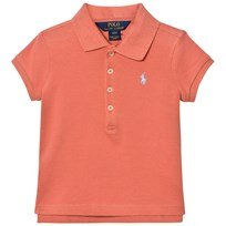 Ralph Lauren Stretch Mesh Short-Sleeve Polo Salmon Berry 001