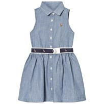 Ralph Lauren Blue Chambray Shirt Dress with Anchor Belt 001