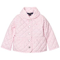 Ralph Lauren Gingham Quilted Barn Jacket Pink 001