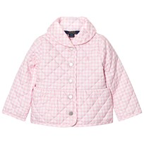 Ralph Lauren Pink and White Gingham Barn Jacket 001