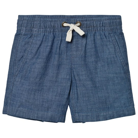 Lands' End Blue Pull On Woven Shorts NIGHTSHADOW BLUE CHAMBRAY