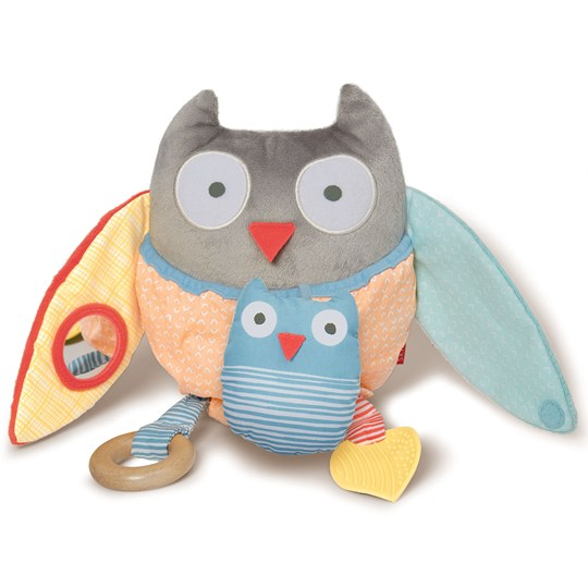Skip Hop Hug & Hide Treetop Friends Activity Toy Owl Grey/Pastel