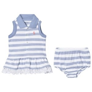 Image of Ralph Lauren Blue Sleeveless Dress with Bloomers 9 months (2743819979)
