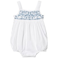 Ralph Lauren Embroidered Cotton Romper White 001