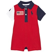 Ralph Lauren Cotton Mesh Polo Shortall Red 001