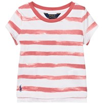 Ralph Lauren Striped Cotton Jersey Tee Pink and White 003
